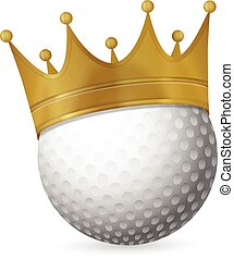 Golf ball with crown
