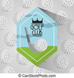 golf club sport balls background