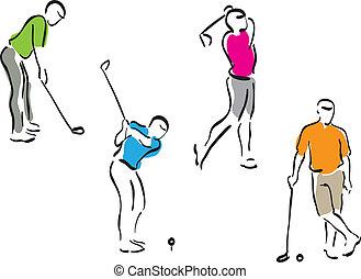 golf men - set