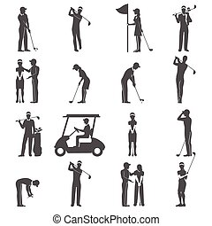 Golf People Black