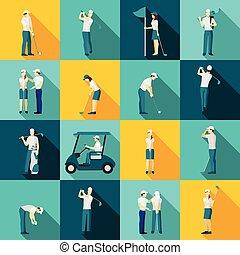 Golf People Flat