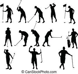 golf silhouettes