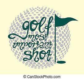 golf sports equipment vector art