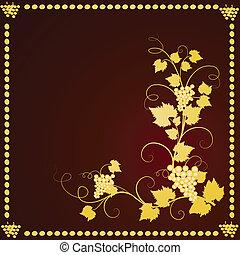 Grape background frame.