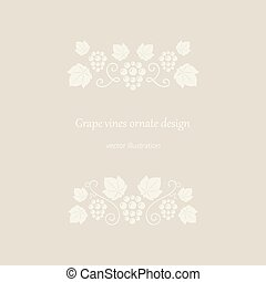Grape vines ornates beige