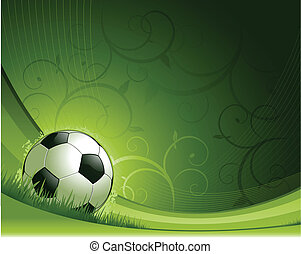 green abstract soccer background
