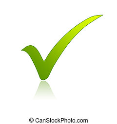 Illustration of a green check mark sign