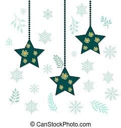 Christmas holiday hanging stars