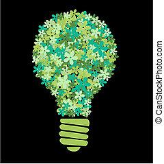 green flower bulb