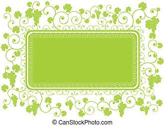 green grape frame