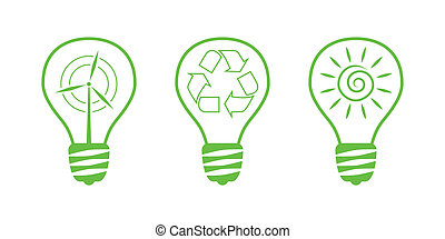 Green Nature Icons. Part 10 - Environment