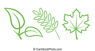 Green Nature Icons. Part 3 - Leaves