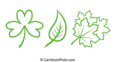 Green Nature Icons. Part 4 - Leaves
