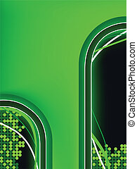 Green Neon Background with Copyspace