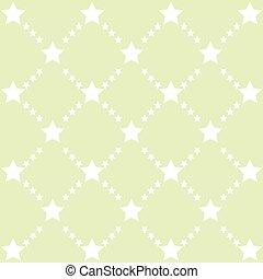 Green stars pattern vector