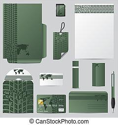 Green stationary vector set