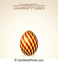 Greeting Card Text Template with Easter Egg