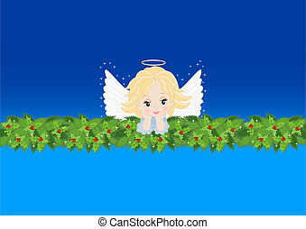 greeting card with an angel