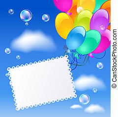 Greeting card with balloons
