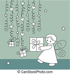greeting card with elf