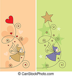 greeting card with elves