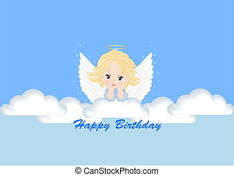 greeting card with the angel