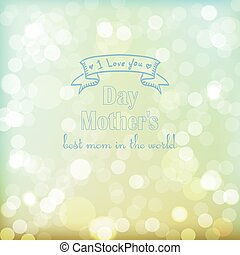 Greeting postcard happy mothers day.