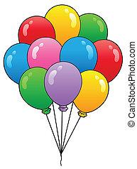 Group of cartoon balloons 1 - vector illustration.