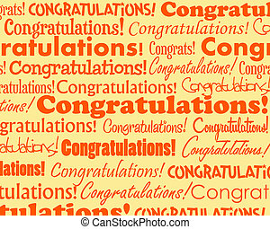 Grouped collection of different Congratulations text