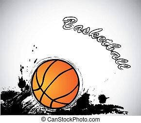 Grunge basketball background. Vector
