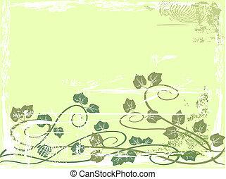 Grunge grape vine background