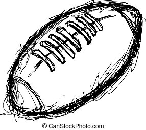 grunge rugby ball