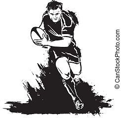 Running rugby with the ball