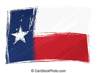 State of Texas flag created in grunge style
