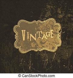 Grunge vintage card template. Vector