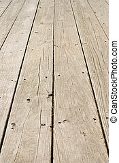 Grunge wooden floor with old nails
