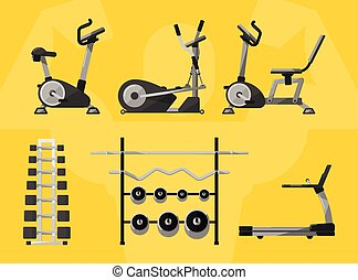 Gym isolated equipment, vector icon.