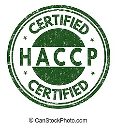 HACCP (Hazard Analysis Critical Control Points) grunge rubber stamp on white background, vector illustration