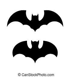Halloween Bat Icon Set. Vector