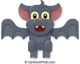 Halloween Cute Vampire Bat Cartoon