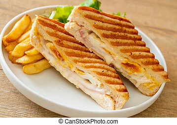 ham cheese sandwich with egg