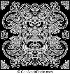 Hand Draw Traditional Ornamental Floral Paisley Bandana