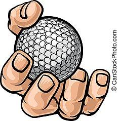 Hand Holding Golf Ball