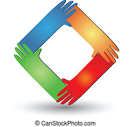 Hands helping logo vector