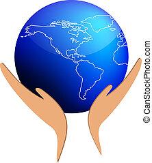 Hands sustain the world