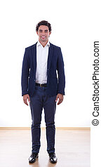 man in a suit on casting