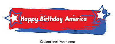 Happy Birthday America Banner