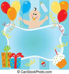 Happy Birthday Baby Boy Invitation