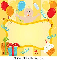 Happy Birthday Baby Invitation