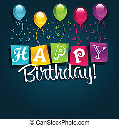 Vector colorful birthday card